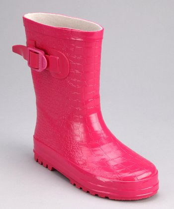 Pink Camp Rain Boot - Kids