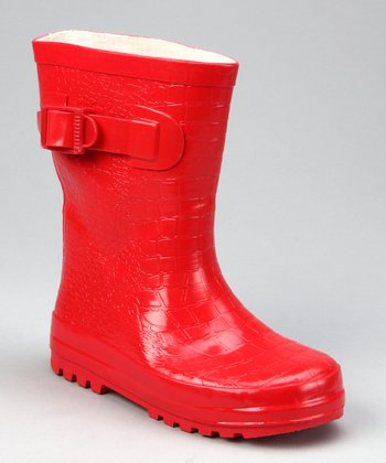 Red Camp Rain Boot - Kids