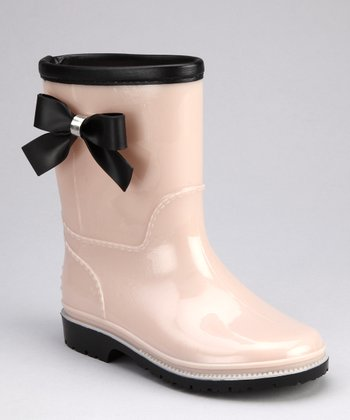 Beige Princess Rain Boot - Kids