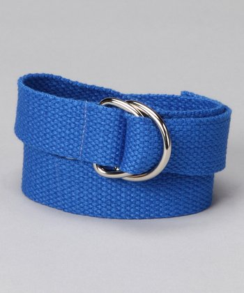 Blazin' Blue D-Ring Belt
