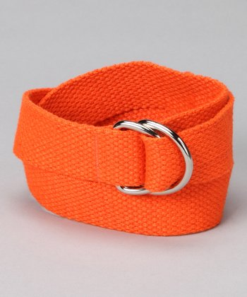 Outrageous Orange D-Ring Belt
