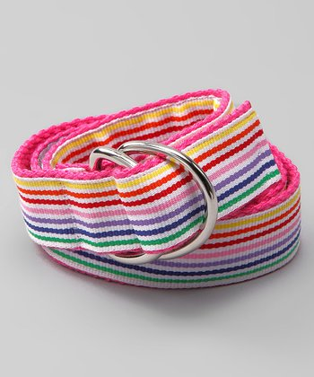 Rainbow Splash D-Ring Belt