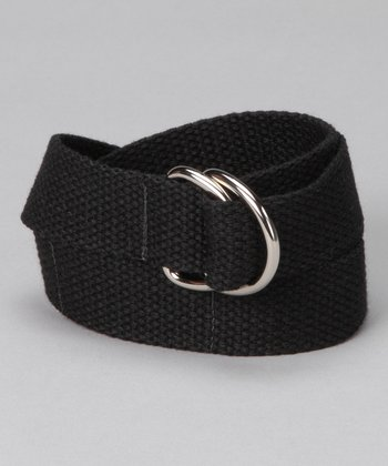 Raven Black D-Ring Belt