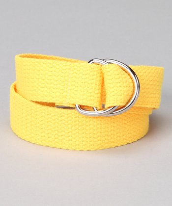 Sunshine Yellow D-Ring Belt