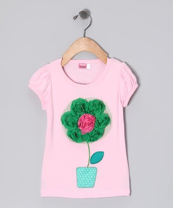Pink Flowerpot Top - Toddler