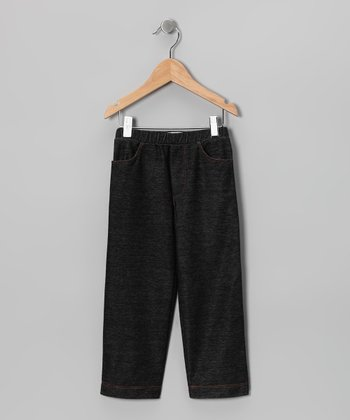Charcoal Denim Knit Pants - Toddler & Kids