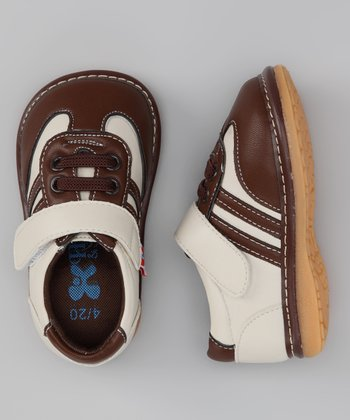 Brown & Cream Chocolate Squeaker Sneaker