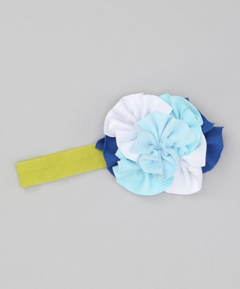Blue Layered Flower Headband