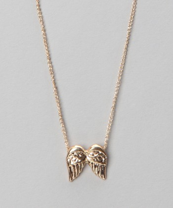 Gold Wings Pendant Necklace
