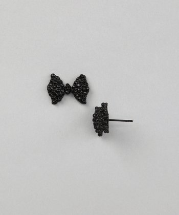 Black Bow Earrings