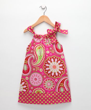Pink Paisley Hailey Swing Dress - Toddler