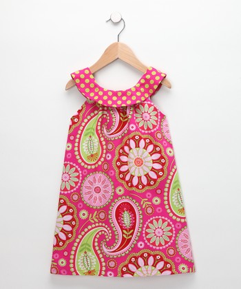 Pink Paisley Emily Yoke Dress - Toddler & Girls