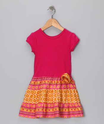 Bright Pink Bella Dress - Infant