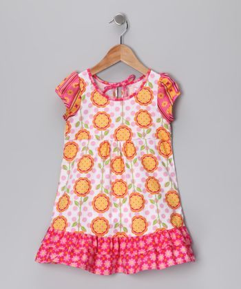 Orange Melanie Babydoll Dress - Toddler