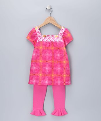 Fuchsia Nicole Tunic & Leggings - Girls