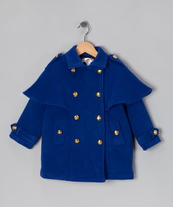 Hippototamus Blue Military Jacket - Toddler & Girls
