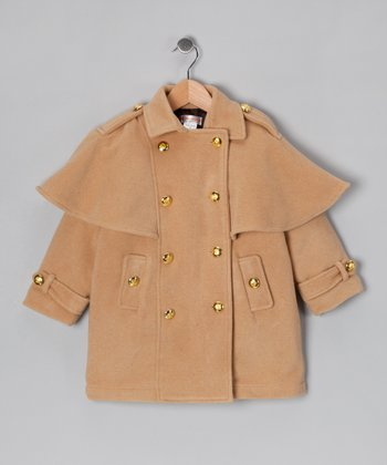 Hippototamus Camel Military Jacket - Toddler & Girls