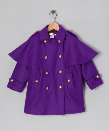 Hippototamus Purple Military Jacket - Toddler & Girls