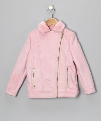 Hippototamus Pink Biker Coat - Infant, Toddler & Girls