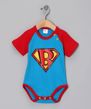 Blue Super Baby Bodysuit - Infant
