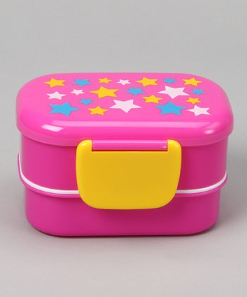 Pink & Yellow Star Lunch Box