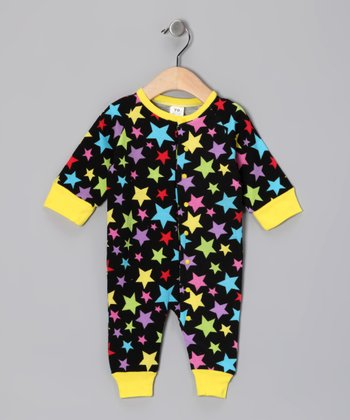 Black Stars Thermal Playsuit - Infant