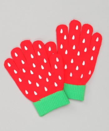 Red & Green Strawberry Gloves