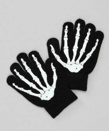 Black & White Bone Gloves