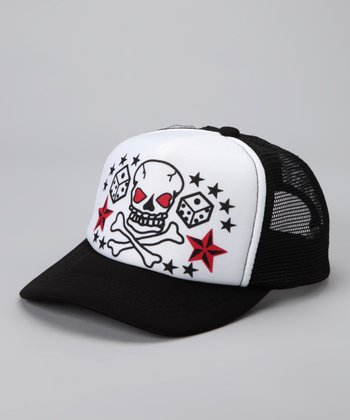 Black & White Tattoo Mesh Baseball Hat