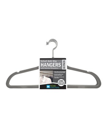 Gray Velvet Hanger - Set of 18