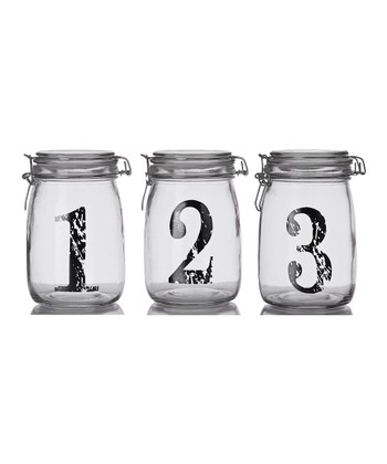Vintage Number Bail & Trigger Jar Set