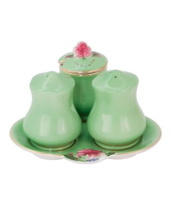 Green Napoli Condiment Set
