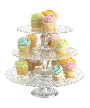 Bakers Choice Hammered Three-Tier Cake Stand