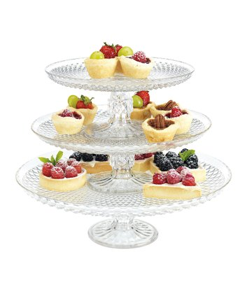 Baker's Choice Diamond Three-Tier Cake Stand