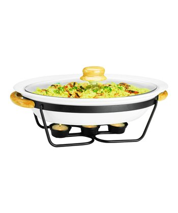 15'' Oval Covered Casserole Dish & Stand