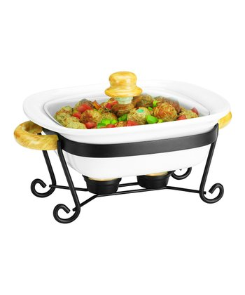 10'' Square Covered Casserole Dish & Stand