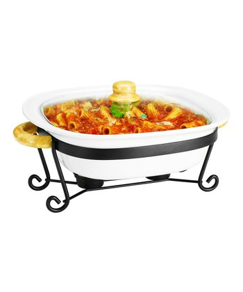 12'' Square Covered Casserole Dish & Stand