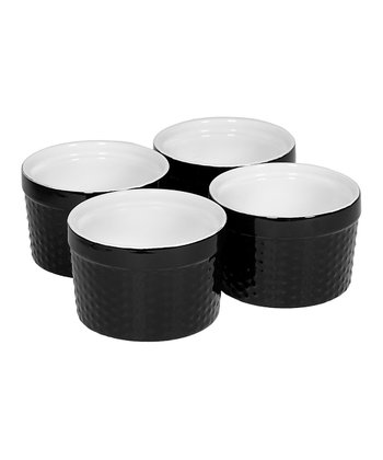Black Mini Hobnail Ramekin - Set of Four