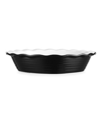 Black Scallop Pie Dish