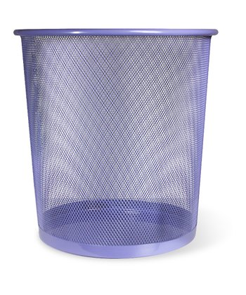 Purple Wastebasket