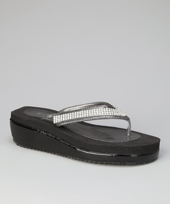 Pewter Paradise Wedge Flip-Flop