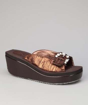 Coffee Tara Wedge Sandal