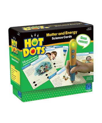 Science Matter & Energy Hot Dots Card Set