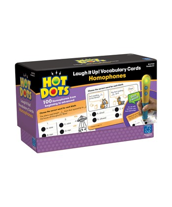 Laugh It Up! Homophones Hot Dots Card Set