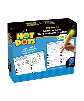 Word Problems Grades 1 to 3 Hot Dots Card Set
