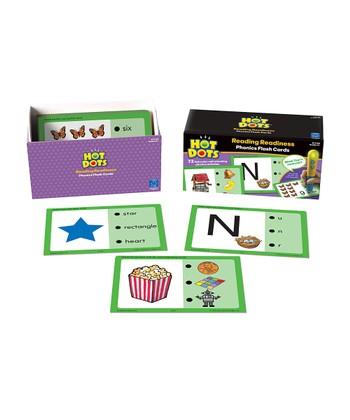 Reading Readiness Hot Dots Flash Card Set