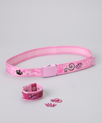 Pink Princess Bling Belt & Wristband