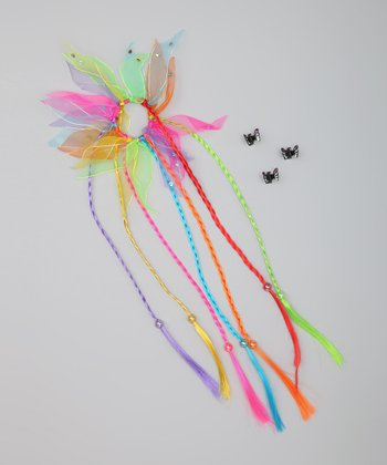 Brights Straight Hair Tie & Butterfly Clip Set