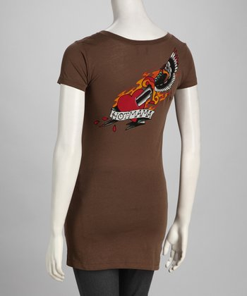 Brown Dagger Maternity Tee - Women