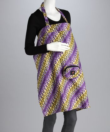 Ankara Purple Hooks Eneehi Roving Nursing Clutch